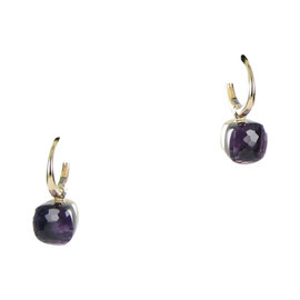 Pomellato Nudo 18K Rose Gold with Amethyst Drop Earrings