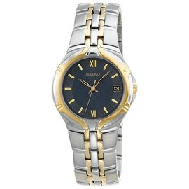 Seiko SGE514 Two-Tone Stainless Steel Quartz 37mm Mens Watch
