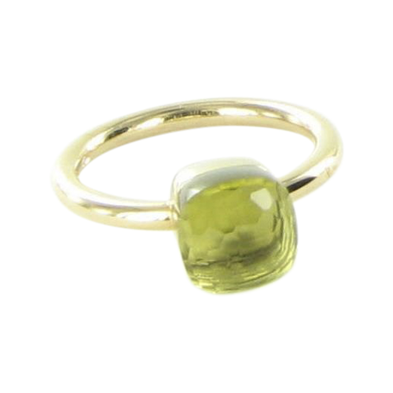 """""Pomellato Nudo 18K Rose Gold with Lemon Quartz Ring Size 7"""""" 2017263"