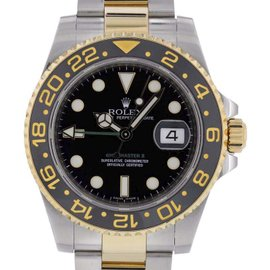 Rolex GMT Master 116713 Stainless Steel & 18K Yellow Gold Automatic 40mm Mens Watch