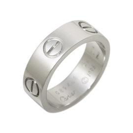Cartier Love 750 White Gold Ring Size 4.5