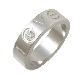 Cartier Love 750 White Gold with Diamond Ring Size 4.5