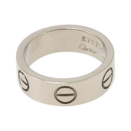 Cartier Love 750 White Gold Ring Size 4