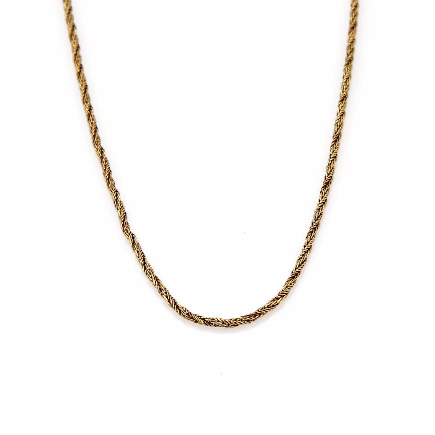 """Image of """"Chopard 18K Yellow Gold Twisted Rope Chain Necklace"""""""