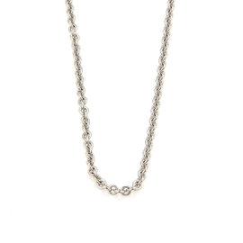 Cartier 18K White Gold Rolo Link Chain Necklace