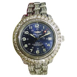 Breitling Colt A74350 Stainless Steel Quartz with Diamonds Automatic 38mm Unisex Watch