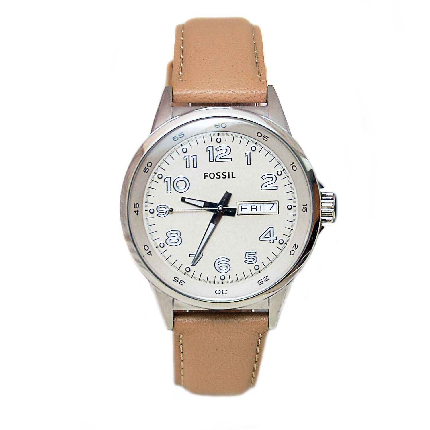 "Image of ""Fossil Am4433 Stainless Steel & Leather Quartz 38mm Womens Watch"""