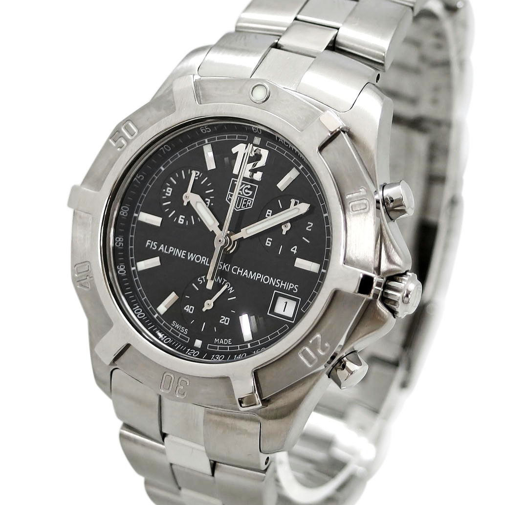 """Image of """"Tag Heuer Fis Alpine Cn1119 Stainless Steel with Black Dial Quartz"""""""