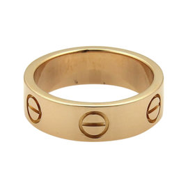 Cartier Love 18K Rose Gold Band Ring Size 5.5