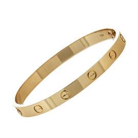 Cartier Love 18K Rose Gold Bracelet Bangle Size 17
