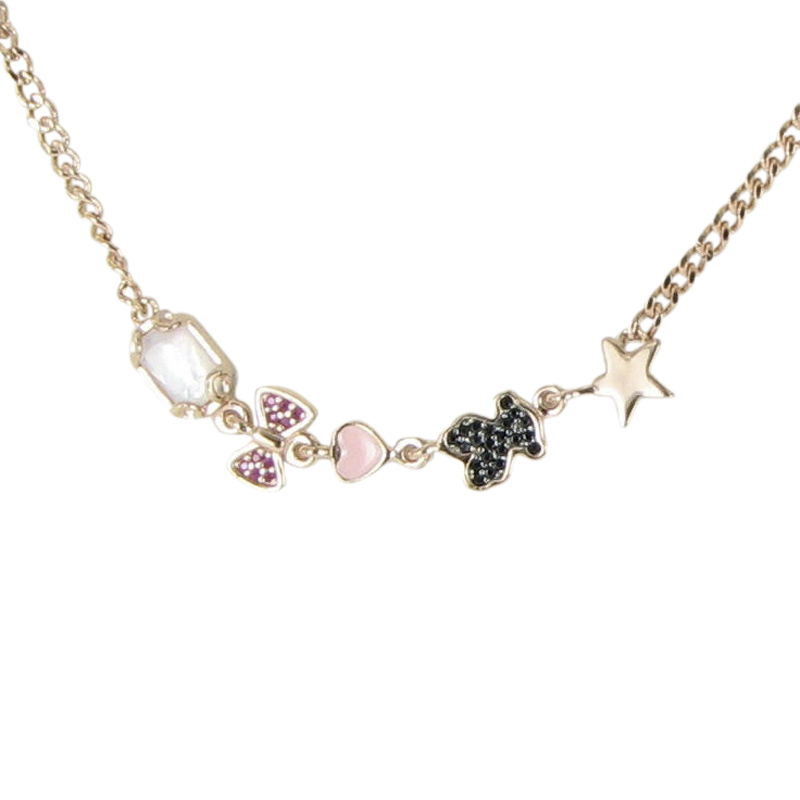 """Image of """"Tous 18k Rose Gold Plated 925 Sterling Silver Pink Vermeil Ruby Quartz"""""""