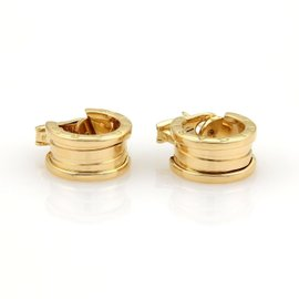 Bulgari Bvlgari B Zero-1 18K Yellow Gold Wide Hoop Earrings