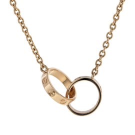 Cartier Love 18K Yellow Gold Double Circle Pendant Necklace