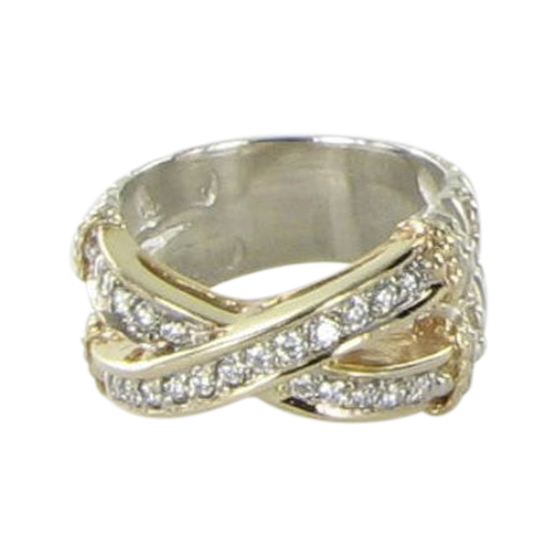 "Image of ""Alwand Vahan 925 Sterling Silver & 14K Yellow Gold with 0.48ct Diamond"""