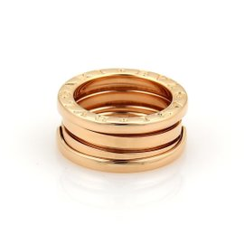 Bulgari B Zero-1 18K Rose Gold Band Ring Size 3.5