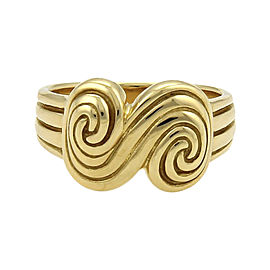Tiffany & Co. Spiro 18K Yellow Gold Grooved Spiral Ring Size 5.5