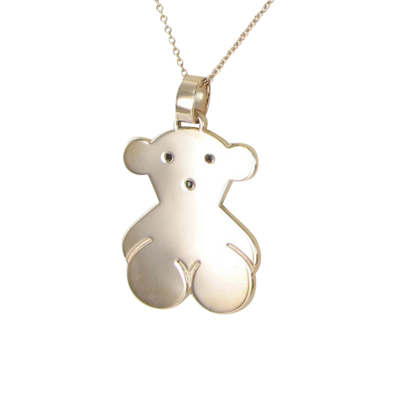 "Image of ""Tous 18K Pink Gold & 925 Sterling Silver Spinels Sweet Dolls Pendant"""