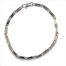 Cartier Figaro 750 White Gold Bangle Bracelet