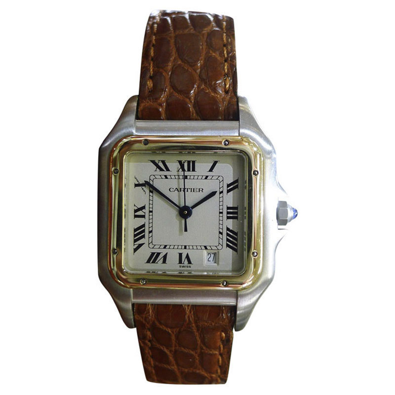 "Image of ""Cartier Panthere 1100 Stainless Steel & Yellow Gold 27mm Womens Watch"""