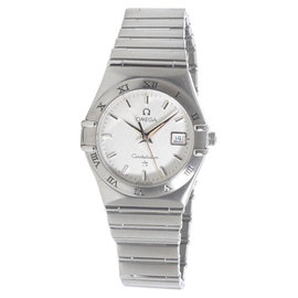 Omega Constellation Stainless Steel with White Dial Quartz 27mm Womens Watch