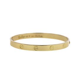 Cartier Love Aldo Cipullo 18K Yellow Gold Bangle Bracelet Size 18