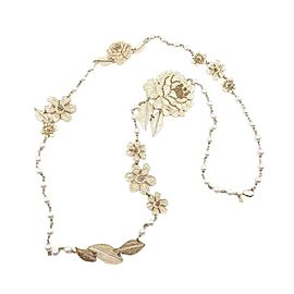 Chanel Gold Tone Hardware with Pearl Necklace