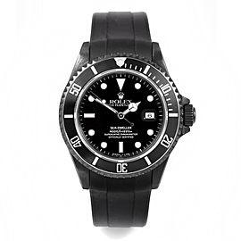Rolex Seadweller PVD on Rubber Strap 40mm Watch