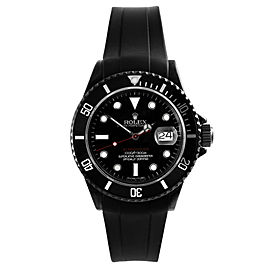 Rolex Submariner PVD Red Accent Dial with Rubber Strap 40mm Watch