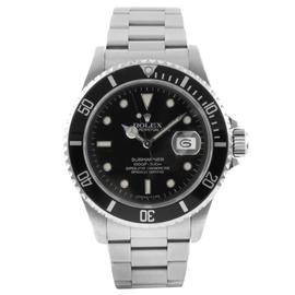 Rolex Stainless Steel Submariner Black Watch