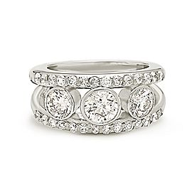 14K White Gold with 2.40ct. Diamond Ring Size 6