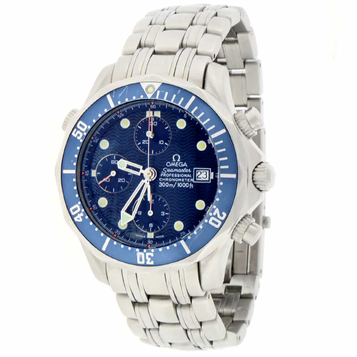 "Image of ""Omega Seamaster 2298.80.00 Stainless Steel & Blue Dial 42mm Mens Watch"""