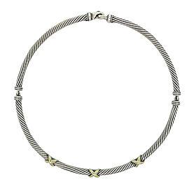 David Yurman Sterling Silver Triple X Collar Necklace