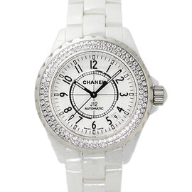 Chanel J12 Automatic H0969 White Ceramic Diamond Watch