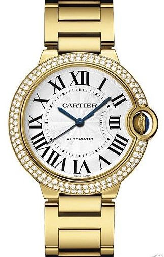 Cartier Ballon Bleu We9004Z3 18K Yellow Gold Diamond Womens Watch