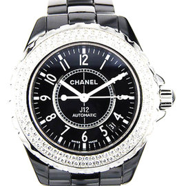 Chanel J12 H0950 Black Ceramic Diamond Automatic 38mm Watch