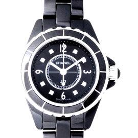 Chanel J12 H2569 Black Ceramic Diamond Dial Quartz 29mm Watch