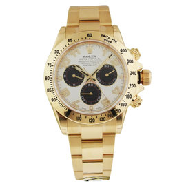 Rolex Daytona 116528 40mm Yellow Gold Ivory Watch