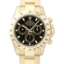 Rolex Daytona 116528 40mm Yellow Gold Black Dial Watch