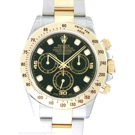 Rolex Daytona 116523 Black Diamond Dial Steel Watch