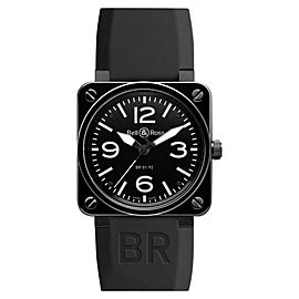Bell & Ross BR01-92-CERAMIC Black Stain Black Dial 46mm Watch