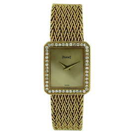 Piaget Protocol 18K Yellow Gold with Diamond Bezel Ultra Thin Watch