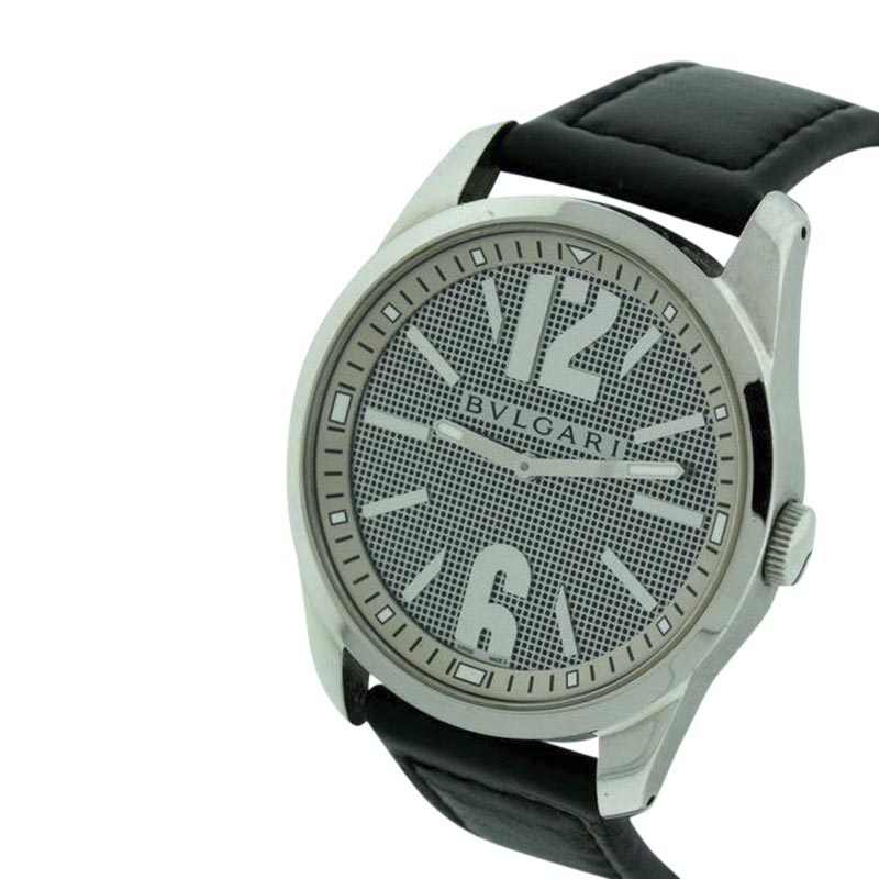 "Image of ""Bulgari Solotempo Large Stainless Steel Mens 42mm Watch"""