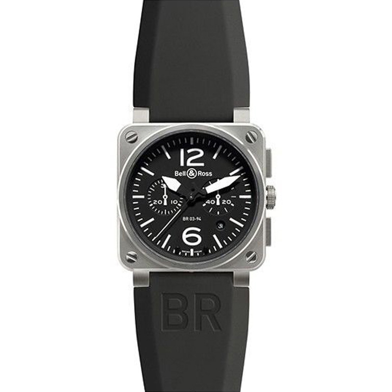 "Image of ""Bell & Ross Br-03-94 Carbon Steel Automatic Stainless Steel Watch"""