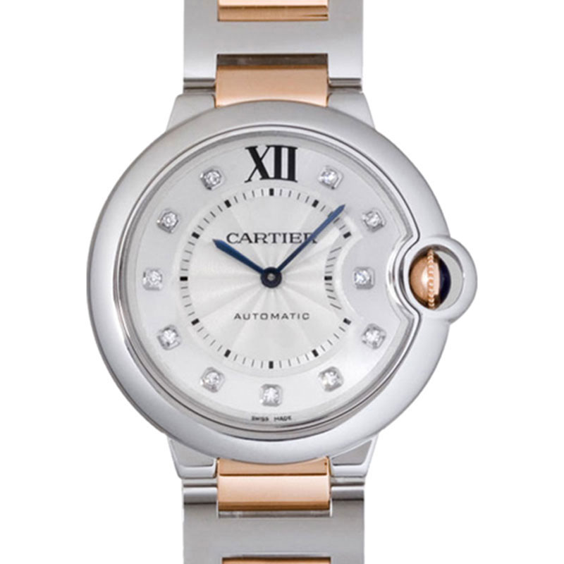 Cartier Ballon Bleu We902031 18K Rose Gold Stainless Steel Watch