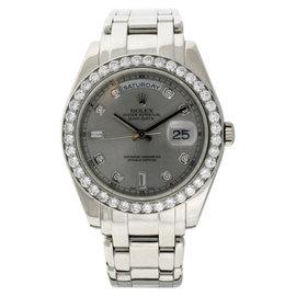 Rolex Pearlmaster Masterpiece 18946 Platinum with Diamond Watch 40mm