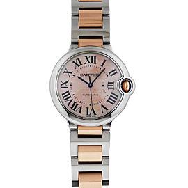 Cartier Ballon Bleu Automatic Stainless Steel & Rose Gold W6920033 36.6mm Watch