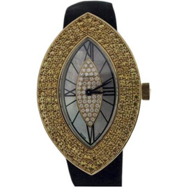 Chopard Classiques Femme Cats Eye 18K Gold Diamonds Sapphires Watch