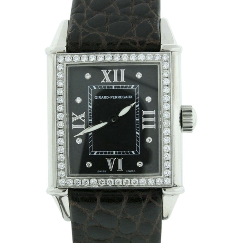 "Image of ""Girard Perregaux 2754 Stainless Steel Leather & Diamond 23mm x 24mm"""