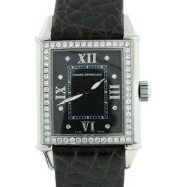 Girard Perregaux 2754 Stainless Steel Leather & Diamond 23mm x 24mm Watch