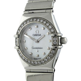 Omega Constellation 1561.71.00 Cindy Crawford Diamond Stainless Steel 22mm Womens Watch